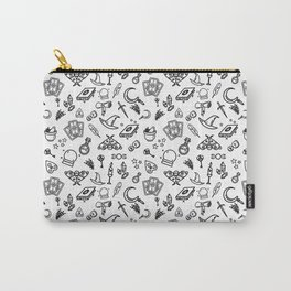 Modern Witch - White Carry-All Pouch