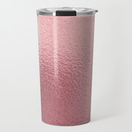 Pure Rose Gold Pink Travel Mug