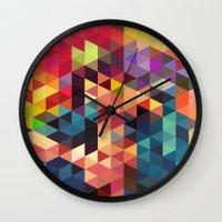 sword Wall Clocks featuring pattern sword by Alexandr-Az