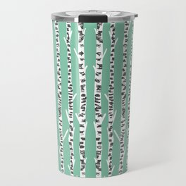 Birch Tree northwest minimal forest woodland nature pattern by andrea lauren Travel Mug