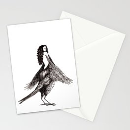 Bird Woman Stationery Cards