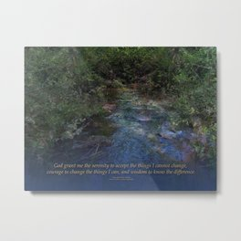 Serenity Prayer Blue Creek Metal Print