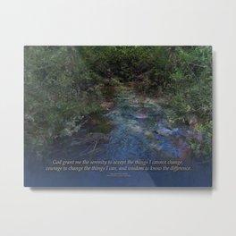 Serenity Prayer Blue Creek Metal Print