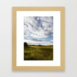 Wisconsin: We don't just have beer. Framed Art Print