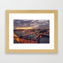 Stormy Porto Framed Art Print