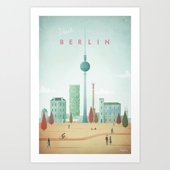 Vintage Berlin Travel Poster by wetcake