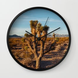 Nevada Desert Sunrise III Wall Clock