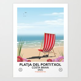 Platja del Portitxol France Art Print