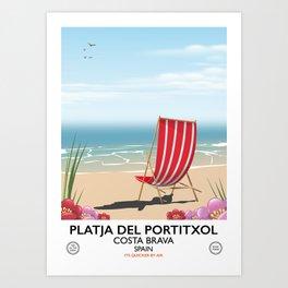 Platja del Portitxol France Art Print