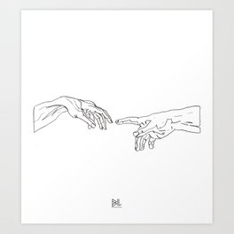 The Creation Of Adam Art Print
