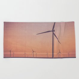 Southwest Windmills Route 66 Beach Towel