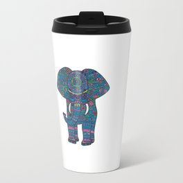 colored elephant Travel Mug