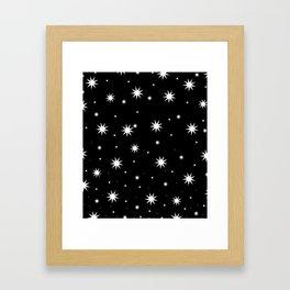 Starry Stars Framed Art Print