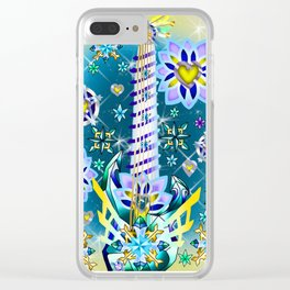 Fusion Keyblade Guitar #62 - Daimond Dust & Ultima Weapon Clear iPhone Case