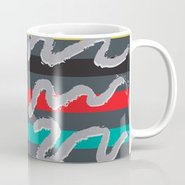 Postmodern Rugby Stripe Doodles Coffee Mug
