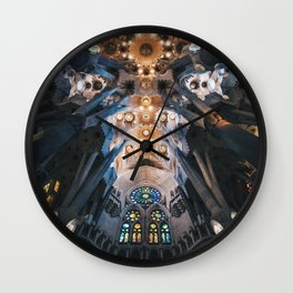 Acid Trip to an Alien Spider's Web Wall Clock