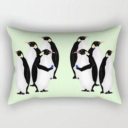 Penguin On A Mobile Device Rectangular Pillow