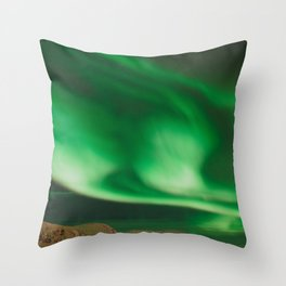 Northern Lights in Norway Throw Pillow