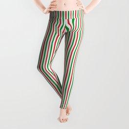 Christmas Time for Stripes Leggings