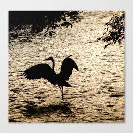Japan Heron Canvas Print