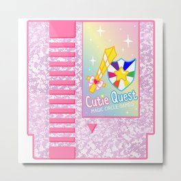 Cutie Quest Cartridge Metal Print