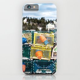 Lobster fishing season preparation iPhone Case
