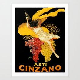 Vintage poster - Asti Cinzano Art Print