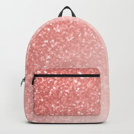 She Sparkles Deep Rose Gold Pastel Pink Luxe Geometric Backpack