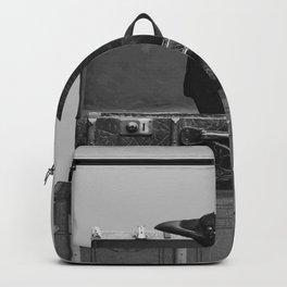 Black Raven - Old Suitcases black & white #society6  Backpack
