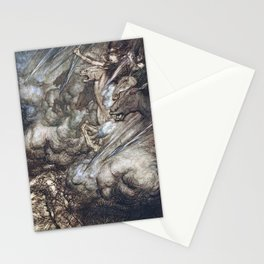 Arthur Rackham - Wagner's The Rhinegold & the Valkyries (1910) - The ride of the Valkyries Stationery Cards