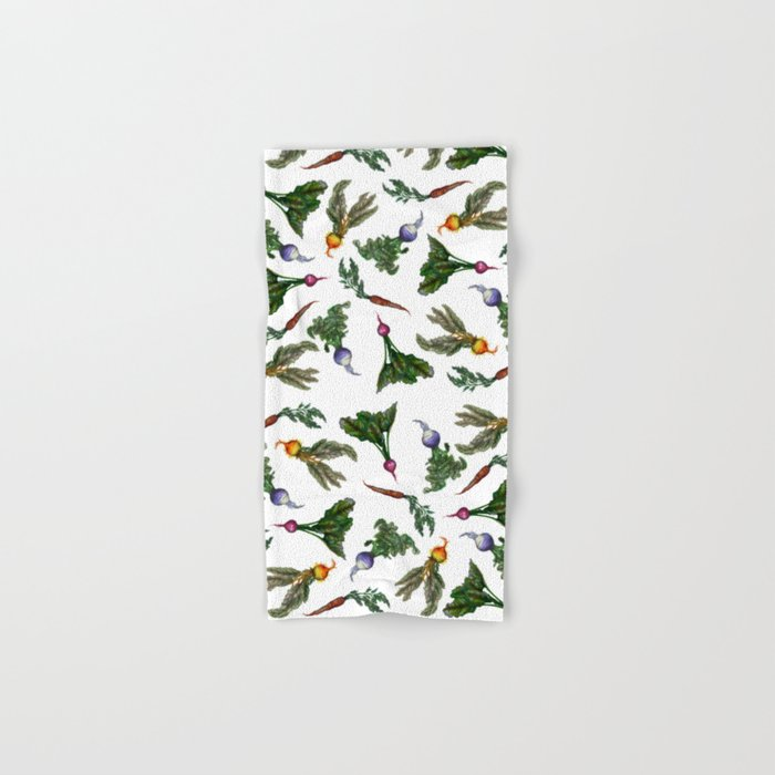 Watercolor Veggies Hand & Bath Towel