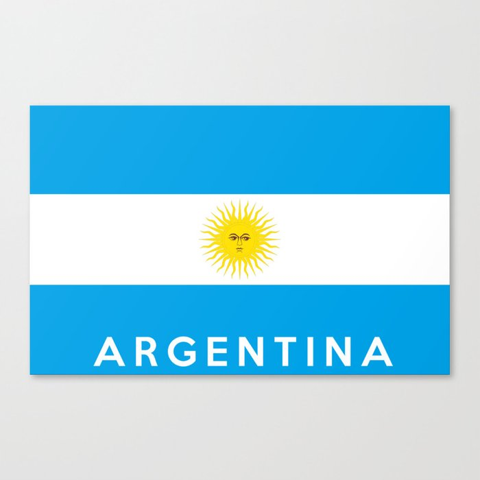 argentina country flag name text Canvas Print by tony4urban | Society6