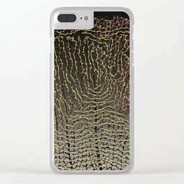 Purple Sea Fan II Clear iPhone Case