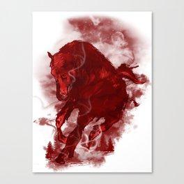 RED STALLION Canvas Print