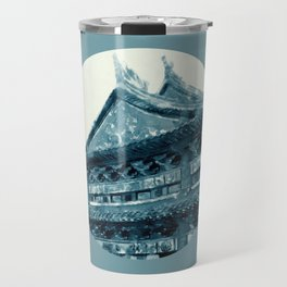 Chinese temple in the moonlight Travel Mug