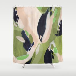 Dressed in Olive Shower Curtain