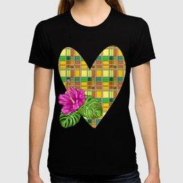 Caribbean Colorful Fabric Madras Tartan T-shirt