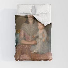 "Francisco Goya ""Condesa de Altamira and Her Daughter, María Agustina"" Comforters"