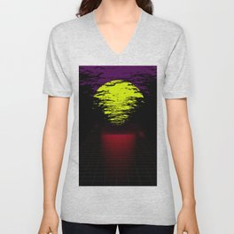 Night Moon Unisex V-Neck