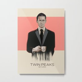 """Set of posters:""""TWIN PEAKS"""" Metal Print"""