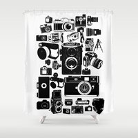 cameras Shower Curtains featuring Cameras by Ewan Arnolda