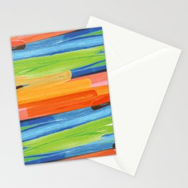 Color yellow red blue green Stationery Cards