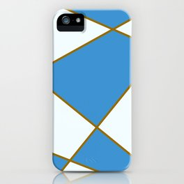 Geometric abstract - blue and brown. iPhone Case