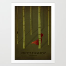 Little Red Ridding Hood Art Print