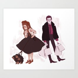 Hades and Persephone's Day Off Art Print