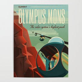 SpaceX Mars tourism poster / Olympus Mons Poster