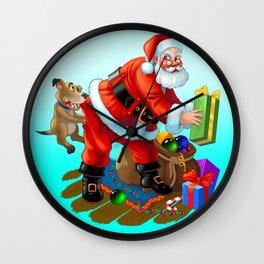 hello Santa Wall Clock