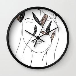 Glitter Lady #3 #minimal #line #art #society6 Wall Clock