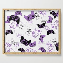 Video Game White & Lavender Serving Tray