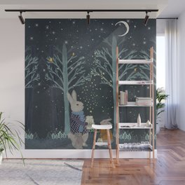 catching fireflies Wall Mural